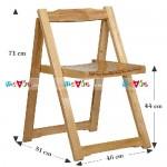 Ghế xếp, gấp nan gỗ màu tự nhiên