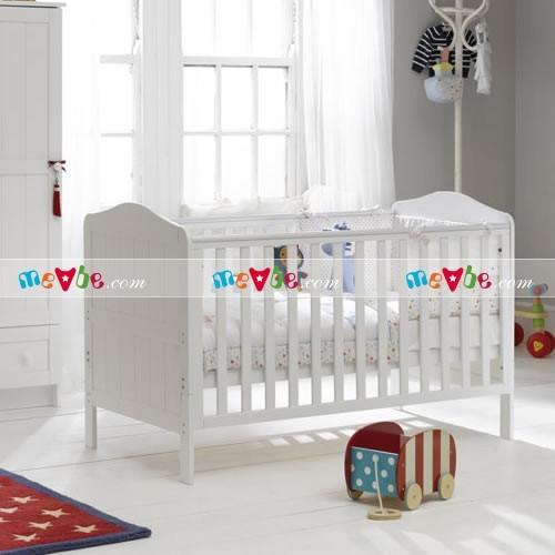 Cũi trẻ em Darling màu trắng ráp thành cũi cho trẻ sơ sinh
