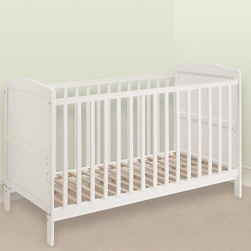 Cũi trẻ em Marlow màu trắng ráp thành cũi cho bé sơ sinh