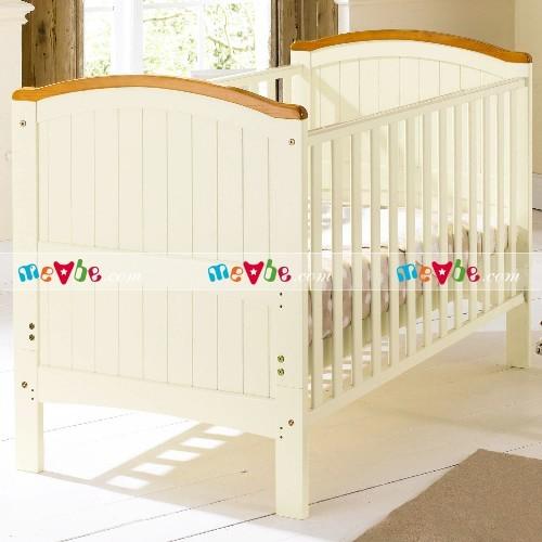 Cũi trẻ em henley trắng dùng làm cũi cho trẻ sơ sinh