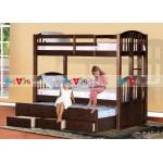 Giường tầng Kingston màu nâu