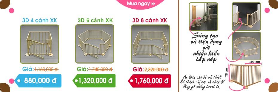 Chương trình giảm giá cũi 3d