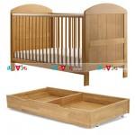 Lido tự nhiên: giường cũi, ngăn kéo chứa đồ