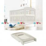 Bibi trắng: giường cũi, bàn thay tã