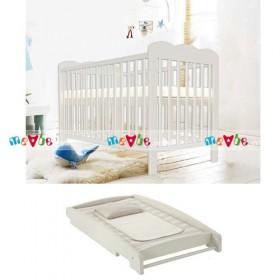 Kerry tự trắng: giường cũi, bàn thay tã