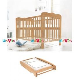 Kerry tự nhiên: giường cũi, bàn thay tã