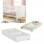 Shoreditch trắng: giường cũi, bàn thay tã, ngăn kéo chứa đồ