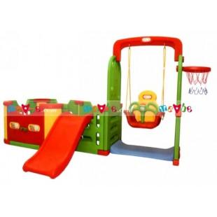 Cầu tuột bóng rổ xích đu nhà liên hoàn