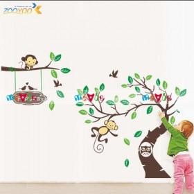 Decal dán tường Nursery Monkey
