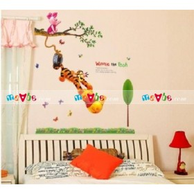 Decal dán tường Winnie The Pooh and Tigger Peel