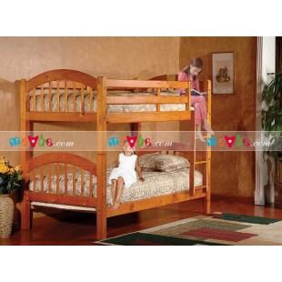 Giường tầng New Royal màu mật ong