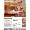 Giường tầng Roman màu mật ong