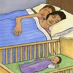 Ngủ chung với bố mẹ - thủ phạm gây đột tử ở trẻ sơ sinh