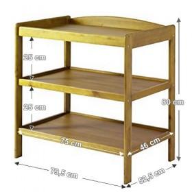 Kệ 03 tầng tiện dụng màu gỗ tự nhiên